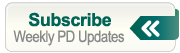 Subscribe to a weekly PD update