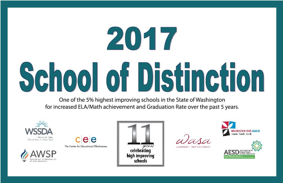 2017 School of Distinction banner
