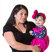 Hispanic mom with baby