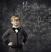 Kid learning math