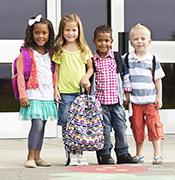 Kindergarten students first day