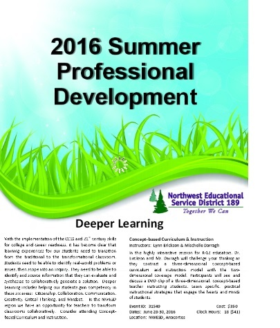 2016 Summer Professional Development flyer cover
